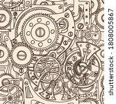 seamless pattern hand drawing... | Shutterstock .eps vector #1808005867