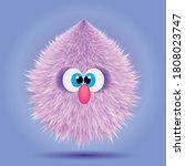 fluffy cute realistic 3d soft... | Shutterstock .eps vector #1808023747