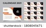 2021 desk calendar  desk... | Shutterstock .eps vector #1808045671