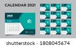 2021 desk calendar  desk...   Shutterstock .eps vector #1808045674