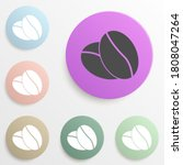 coffee beans badge color set....