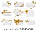 collection of various note card ... | Shutterstock . vector #180806084