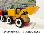 Yellow And Red Toy Car...