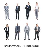 portraits of multi ethnic... | Shutterstock . vector #180809801
