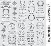 vintage ornament divider set... | Shutterstock .eps vector #1808098177