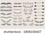 vintage ornament divider set... | Shutterstock .eps vector #1808100607