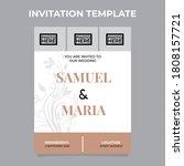 invitation design template...   Shutterstock .eps vector #1808157721