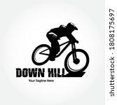 modern downhill bike logo...   Shutterstock .eps vector #1808175697