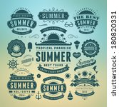 summer holidays design elements ... | Shutterstock .eps vector #180820331