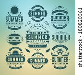 summer holidays design elements ... | Shutterstock .eps vector #180820361
