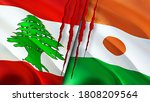Lebanon And Niger Flags With...