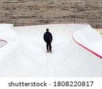 A Guy Rides A Skateboard...