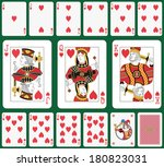 playing cards heart suit  joker ... | Shutterstock . vector #180823031