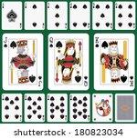 playing cards spade suit  joker ... | Shutterstock . vector #180823034