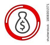 money bag icon  moneybag flat...