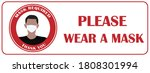 please wear a mask. the... | Shutterstock .eps vector #1808301994
