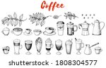 coffee drink hand drawn... | Shutterstock .eps vector #1808304577
