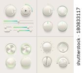 vector realistic detailed knobs ...