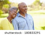 senior couple walking through... | Shutterstock . vector #180833291