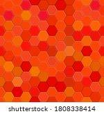 red random honeycomb mosaic.... | Shutterstock .eps vector #1808338414