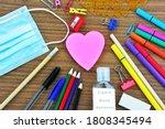 School Supplies   A Heart Shape ...
