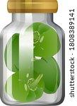 capsicum in the glass jar... | Shutterstock .eps vector #1808389141