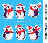 hand drawn vector set of funny... | Shutterstock .eps vector #1808391901