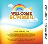 summer design template  vector... | Shutterstock .eps vector #180840365