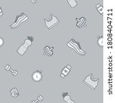 seamless pattern with sport... | Shutterstock .eps vector #1808404711