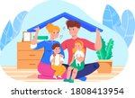 aily family playing with child ... | Shutterstock .eps vector #1808413954