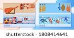 meat food market stall vector... | Shutterstock .eps vector #1808414641