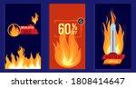 fire flame hot summer sale... | Shutterstock .eps vector #1808414647