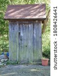 Outhouse Wooden Toilet In The...