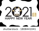 2021  year of the ox  new year... | Shutterstock .eps vector #1808441041