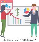 briefing vector flat color icon  | Shutterstock .eps vector #1808449657