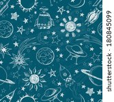 seamless space pattern. can be... | Shutterstock . vector #180845099