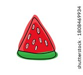 fresh piece of watermelon in... | Shutterstock .eps vector #1808469934