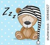 Sleeping Bear In A Cap
