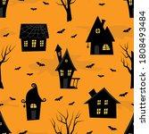 halloween background. seamless... | Shutterstock .eps vector #1808493484