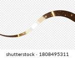 gold wave ribbon. golden... | Shutterstock . vector #1808495311