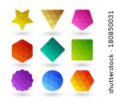 set of design elements.... | Shutterstock .eps vector #180850031