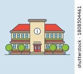 school building vector icon... | Shutterstock .eps vector #1808504461