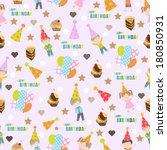 birthday seamless pattern | Shutterstock .eps vector #180850931