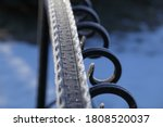 Iron Railing Covered With...