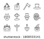 Halloween Line Style Set Icons...