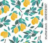 abstract citrus seamless... | Shutterstock .eps vector #1808558587