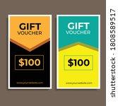 newest design of gift vouchers....   Shutterstock .eps vector #1808589517