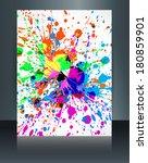 holi brochure grunge colorful