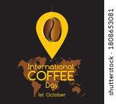 happy international coffee day...   Shutterstock .eps vector #1808653081