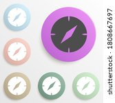 compass badge color set. simple ...